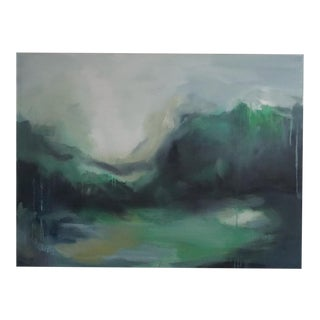 Lush Green Abstract Landscape