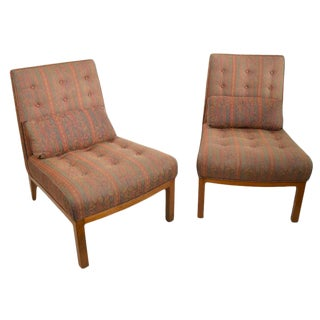 Armless Lounge Chairs- A Pair For Sale