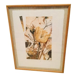1980s Nall Floral Framed Signed & Numbered Lithograph Print For Sale