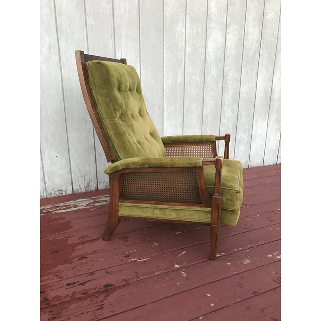 Mid-Century Cane Reclining Chair - Image 4 of 6