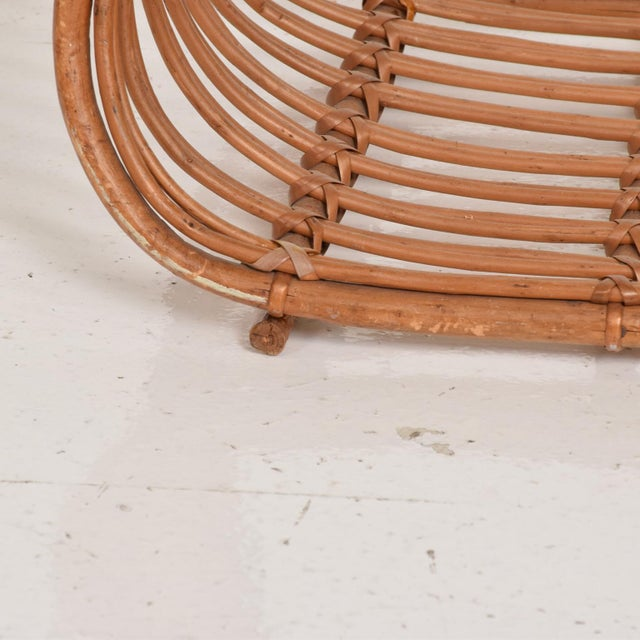 Wood Franco Albini Italian Mid-Century Modern Magazine Rack Holder Basket For Sale - Image 7 of 11