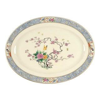 """Antique Lenox Ming-birds 18"""" Oval Serving Platter For Sale"""