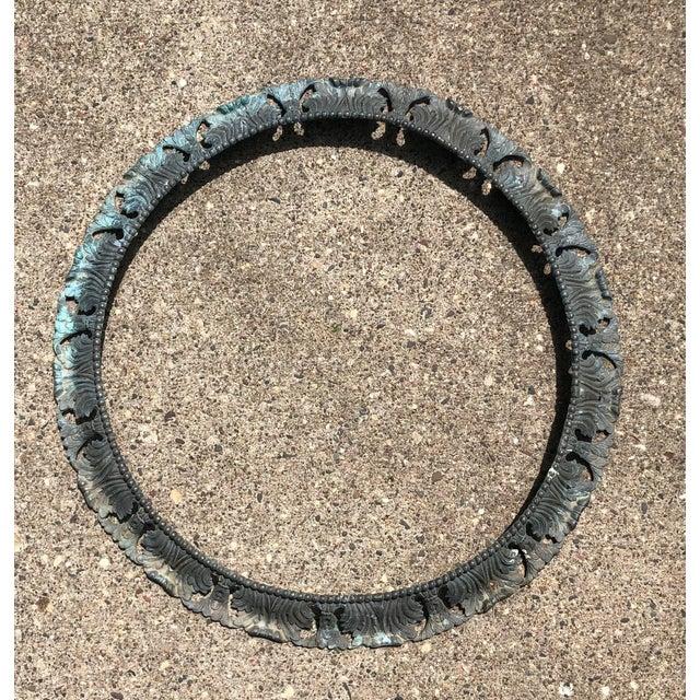 "Beaux-Arts Antique Pair of Beaux Arts 20"" Round Bronze Surrounds - a Pair For Sale - Image 3 of 13"