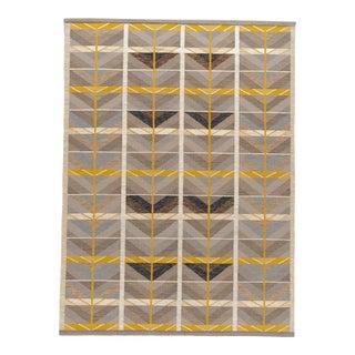 21st Century Modern Scandinavian Style Flat-Weave Rug For Sale