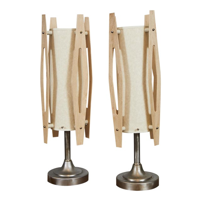 Pair Mid Century Modern Table Lamps For Sale