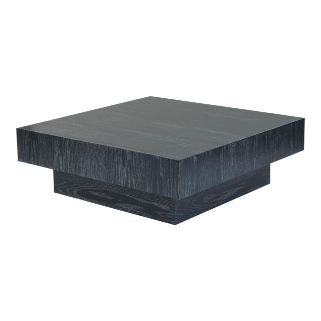 Modern Cerused Square Coffee Table - Image 1 of 9