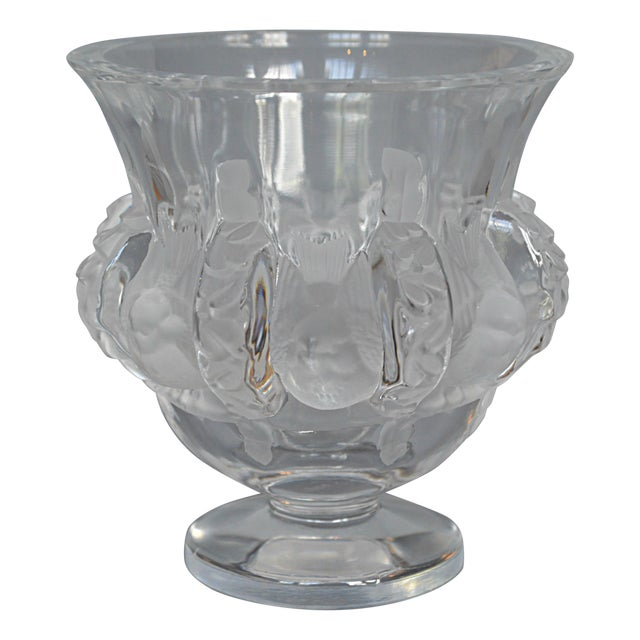 Lalique Dampierre Bird Motif Vase Chairish