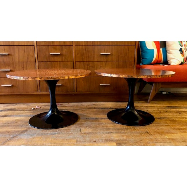 Mid Century Modern Decorator Copper Top Tulip Side Tables- a Pair For Sale - Image 10 of 10
