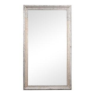 French Reproduction Silver Giltwood Mirror