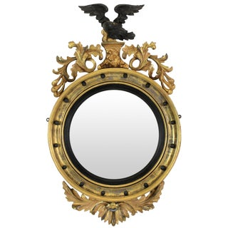 English Regency Convex Mirror For Sale