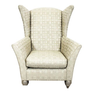 Modern Larry Laslo for Directional Club Wing Chair For Sale