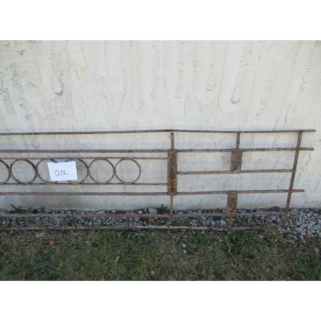 Antique Victorian Iron Gate Window Garden Fence Architectural Salvage Door #072 For Sale - Image 4 of 6