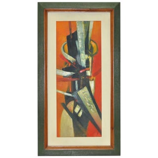 1960's Ulatto Mid Modern Abstract Painting For Sale