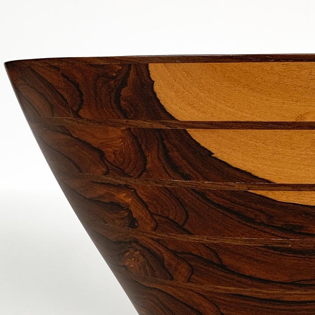 Peter Petrochko Carved Padauk and Ziricote Wood Bowl For Sale - Image 10 of 13