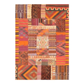 Vintage Patchwork Lamb's Wool Area Rug - 6x9 For Sale