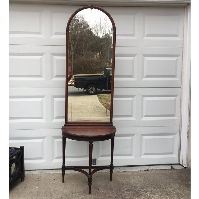 Imperial Mahogany Console Table with Mirror - Image 2 of 9