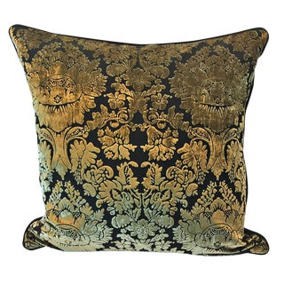 Bronze On Velvet Overlay Imperial Damask Pillow