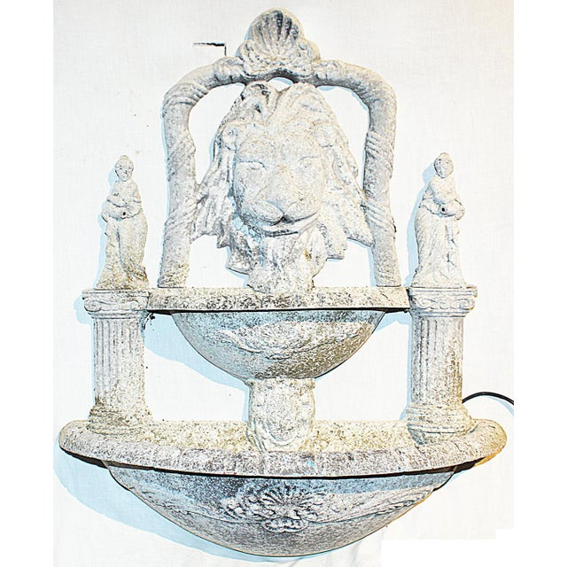 1970s Italian Lion Lavabo Wall Fountain For Sale In West Palm - Image 6 of 6