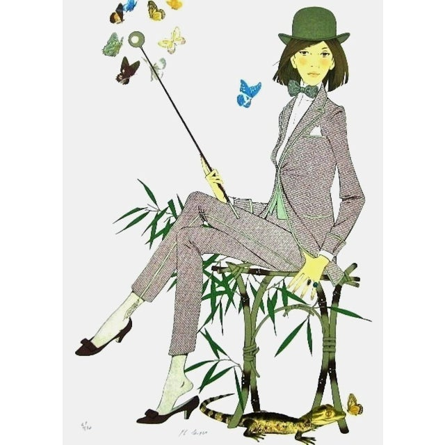 """1970s """"The Crocodile"""" Limited Edition Lithograph After Philippe Noyer For Sale"""