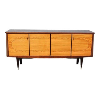 1940s French Art Deco Mahogany Sideboard For Sale