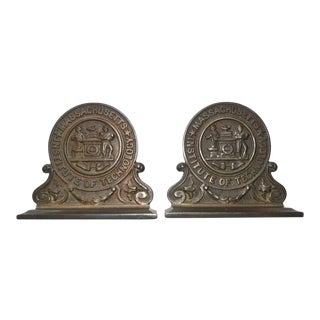 Pair Mit Massachusetts Institute of Technology Bookends Vintage For Sale