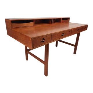 Danish Modern Flip Top Teak Desk by Jens Quistgaard For Sale