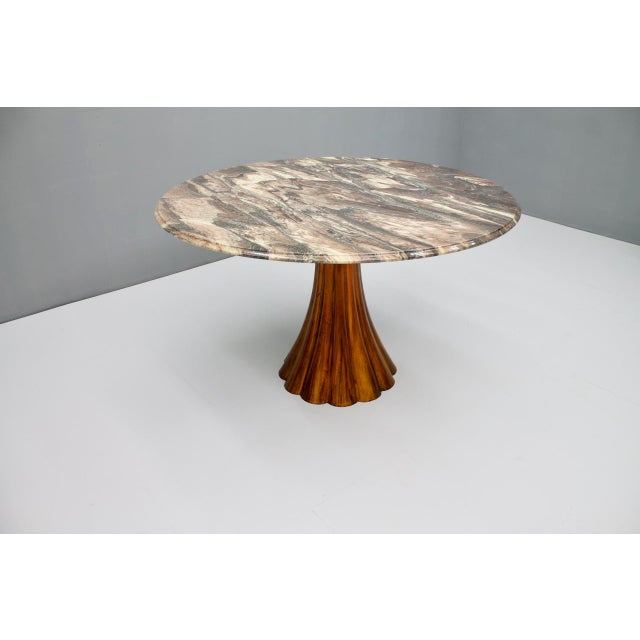 Fantastic Tulip Marble Dining Table Cast Metal Italy 1960s For Sale - Image 10 of 13