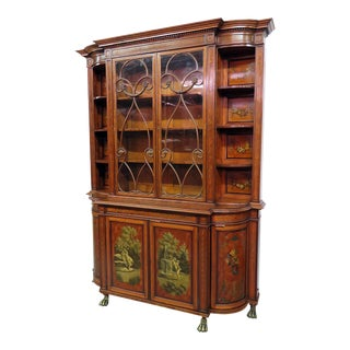 19th Century Adams Style Cupboard For Sale