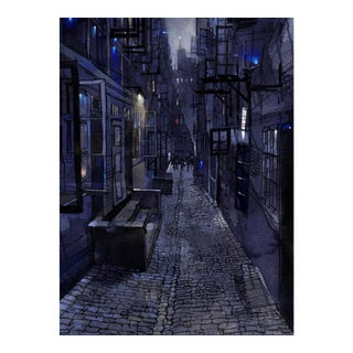 Blue Alley Giclee Print For Sale