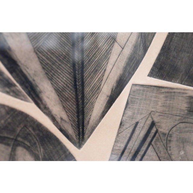 Abstract Signed French Abstract Graphite on Paper For Sale - Image 3 of 10