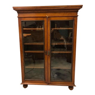 Antique English Mahogany Bookcase For Sale