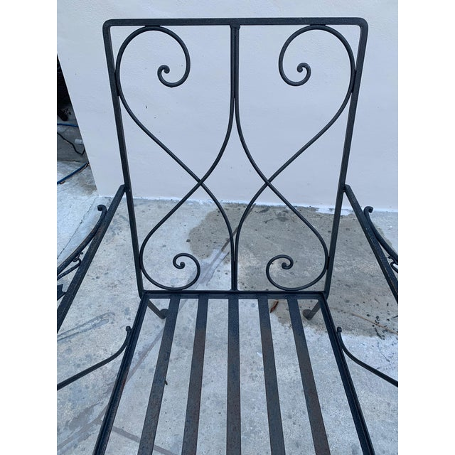 Metal Grape Wrought Iron Patio Lounge Arm Chairs - a Pair For Sale - Image 7 of 8