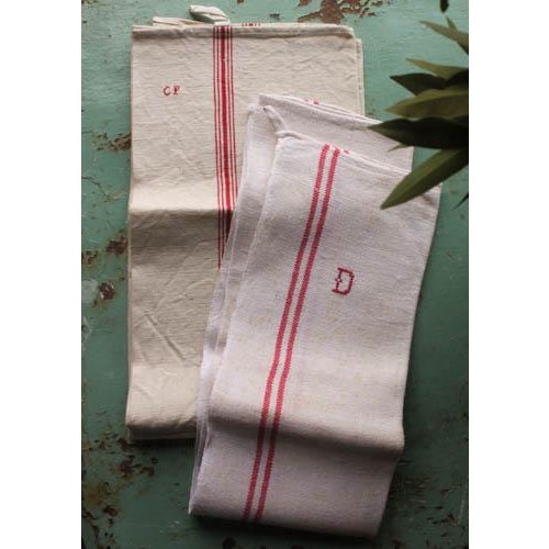 Vintage French Linen Hand Towels - Pair - Image 4 of 5