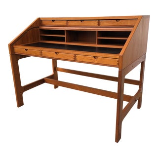 John Mortensen Teak Writing Desk For Sale