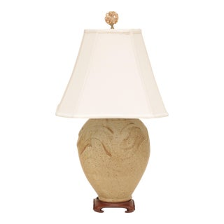 Asian Studio Pottery Table Lamp For Sale
