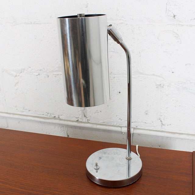 70's Koch And Lowy Style Chrome Desk Lamp - Image 3 of 6