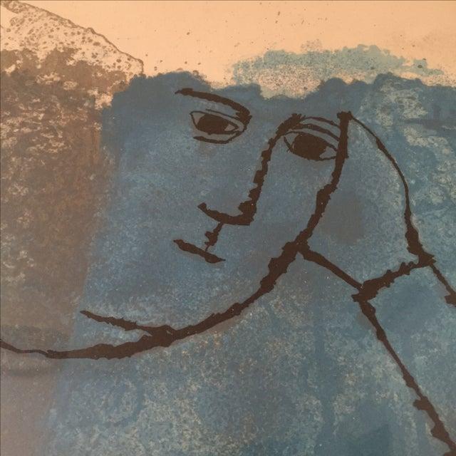 Mid-Century Ben Shahn Portrait Painting - Image 5 of 7