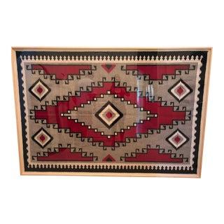 Framed Traditional Navajo Rug - 2′4″ × 5'