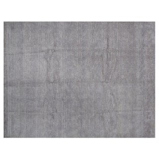 Stark Studio Rugs Contemporary New Oriental Tibetan Silk Rug - 8′ × 10′4″ For Sale
