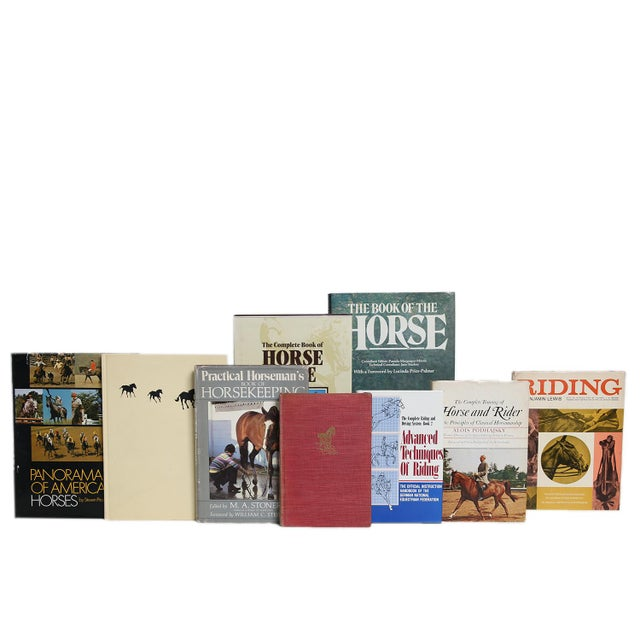 Midcentury Horsemanship Book Set, S/15. Features a blend of fifteen authentic midcentury books published 1946-1972....