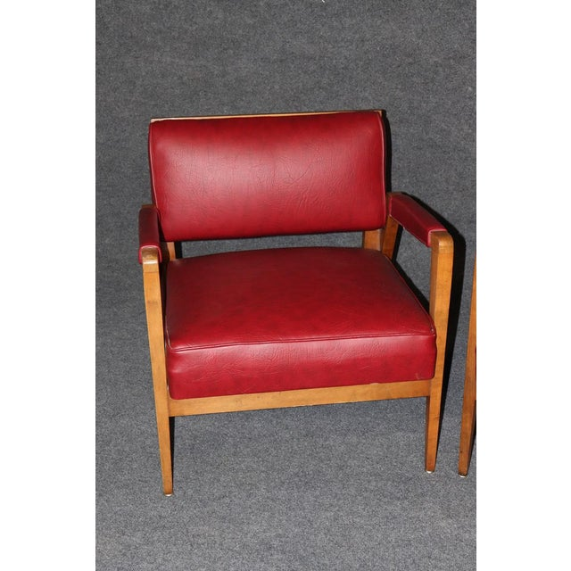 Mid-Century Modern Tiger Maple Lounge Chairs - a Pair For Sale - Image 4 of 10
