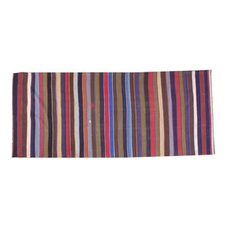 Vintage Persian Kilim Rug - 5′ × 12′ For Sale