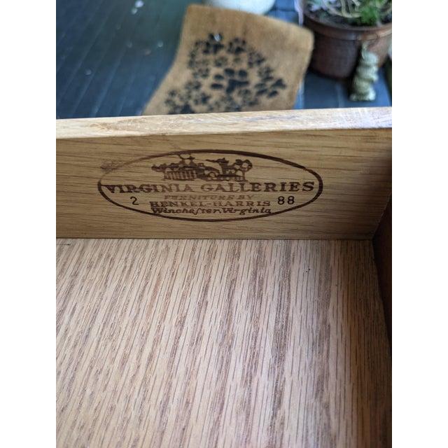 Vintage Henkel-Harris Drop Leaf Mahogany Side Table For Sale - Image 11 of 12