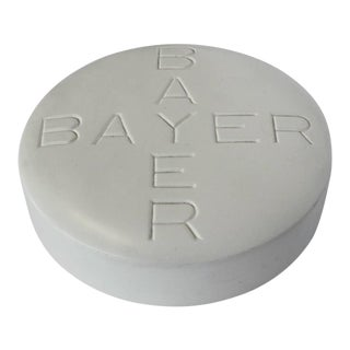 1950s Bayer Pill Advertising Sign For Sale