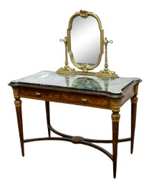 Image of Marble Vanity and Mirror Sets