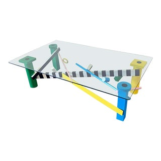 Postmodern Memphis Milano Style Coffee Table For Sale