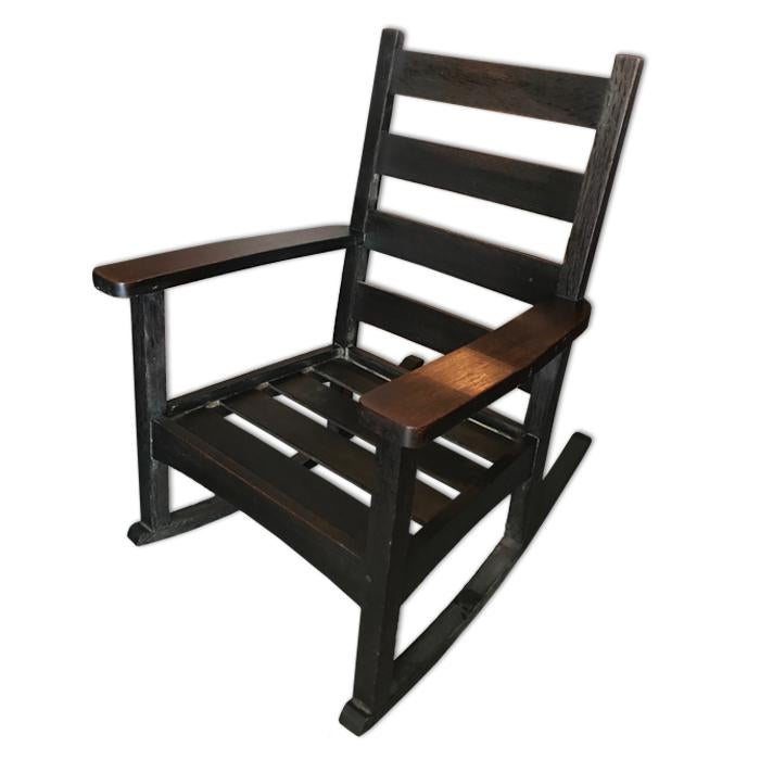 Antique Onondaga Shops Lu0026JG Stickley Arts U0026 Crafts Mission Oak Rocking Chair    Image ...