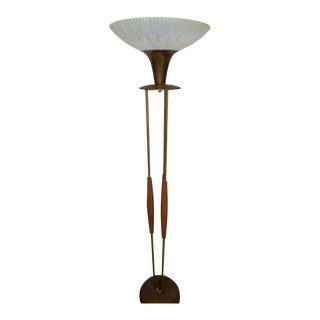 Mid Century Walnut Floor Lamp