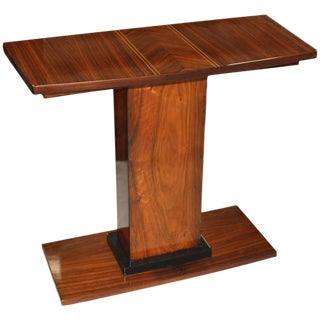 French Art Deco Palisander Console Table