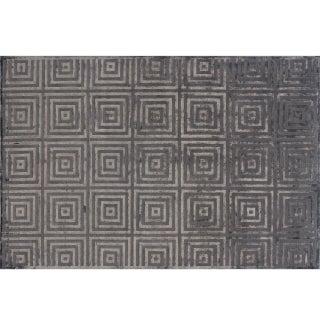 Stark Studio Rugs Contemporary New Oriental Tibetan Wool Rug - 6′ × 9′3″ For Sale